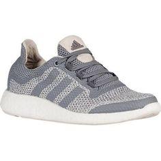 6e4cdb6ad Womens adidas Pure Boost Running Shoe Grey Grey Clear Brown Adidas Hat