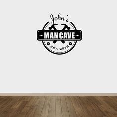 Image of Man Cave Wall Decal Man Cave Wall Decals, Man Images, Wall Prints, Vinyl Decals, Design, Home Decor, Decoration Home, Room Decor