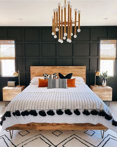 Home Interior Bedroom .Home Interior Bedroom Dream Bedroom, Home Decor Bedroom, Modern Boho Master Bedroom, Black Master Bedroom, Black Bedroom Furniture, Dark Cozy Bedroom, Contemporary Bedroom, Bohemian Bedroom Decor, Black Bedroom Walls