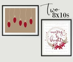 Christmas Decor Christmas Wall Art Holiday by TripleSproutDesigns Use code SHOPSMALL150 for discount. #shopsmall150