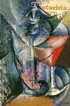 Umberto Boccioni - Natura morta con bicchiere e sifone