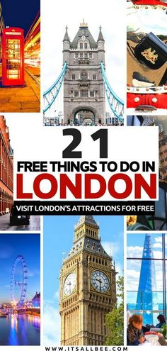 21 Free Things To Do In London UK | ItsAllBee | Solo Travel & Adventure Tips Things To Do In London, Free Things To Do, Switch House, Greenwich Park, Westminster Bridge, London Attractions, London Free, Travel Aesthetic, London Travel