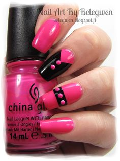 Nail Art by Belegwen: China Glaze Beach Cruise-r & A England Camelot