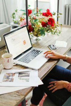 work/office/flowers