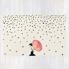 Society6★ラグマット★Polka Rain◆L:122.0cm × 183.0cm