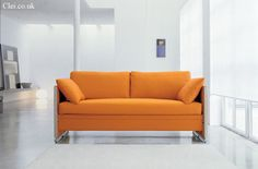 Sofa beds are great with their versatile functions. But even the best sofa bed has to bow down to this: the Doc Space Saving System, which converts from a Canapé Convertible Design, Convertible Furniture, Convertible Bed, Futon Bunk Bed, Sofa Couch Bed, Sleeper Sofa, Sofa Design, Furniture Design, Smart Furniture
