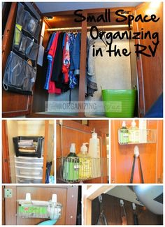 25 of My Best Organizing Hack: shoe organizer to organize toiletries in the RV:: OrganizingMadeFun.com