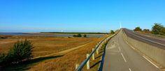 Vue de Noirmoutier et de la mer, depuis le continent