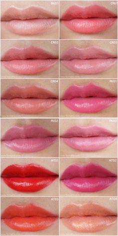 Bloggang.com : feonalita - Color Swatch: SHU UEMURA tint in gelato lip & cheek color ลิปจิ้มจุ่มใหม่ล่าสุด