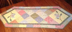 Quilted Table Runner Pastels for Spring  Patchwork and