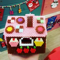 3D Gingerbread house - Christmas perler beads by yan_alisa