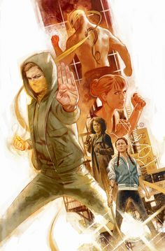 Iron Fist, Colleen Wing, Misty Knight and Mary Walker by Julian Totino Tedesco * Marvel Comic Character, Comic Book Characters, Marvel Characters, Comic Books Art, Comic Art, Character Art, Geeks, Iron Fist Marvel, Avengers