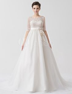 Gorgeous A-Line with Bow