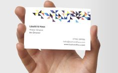 Triangulate Business Card by MOO