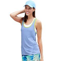 b41100fac Champion Authentic Women's Burnout Tank - Roaming Blue/Vagabond - Size: M -  W9266