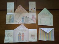 Abrahams tent craft: read the story of Abraham and the 3 promises of God in Gen. 12:1-3, 13, 15:2-6, 18:1-15, & 21:1-7.
