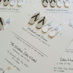 5b36cce8c Flip flop wedding invitations www.ohsopurrfect.co.uk  www.facebook.com ohsopurrfect