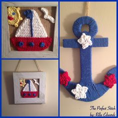 The Perfect Stitch...: Crochet Nautical/4th of July Appliqués
