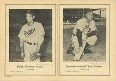 1946-49 W603 Sports Exchange #11-1 Ralph Branca / Ken Keltner Front