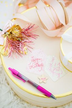 Making My Own Pretty Gift Tags With Pilot Pen. G2 Gel Pens come in so many colors to doodle easy!  DoYouG2 AD