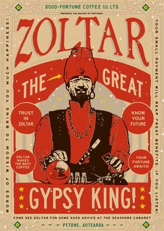 Poster design to promote the new custom Zoltar Machine at the Seashore Cabaret Cabaret, Good Fortune, Fortune Telling, Escape Room Design, American Card, Gypsy Fortune Teller, Circus Poster, Tarot Learning, Vintage Circus