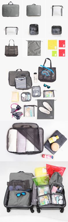 Hey travelers! This all-inclusive 12-piece Rainbow Airlines Travel Pouch Set is the only accessory you'll need! It includes clothing & shoe bags, toiletry & first aid PVC pouches, cable & cosmetics pouches, a mesh bag, a double underwear bag, and 4 compression bags! Your makeup, cables, chargers, tech, swimsuit, and poolside necessities will be safe and organized with this set. Make packing your carry on or checked luggage a breeze. Check it out - it might even make you start to enjoy…