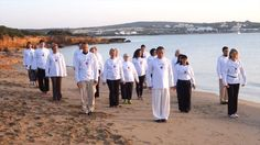 Practice of Zhineng Qigong on the beach of paros, greece. Hun Yuan Qi Therapist program 2015 - 2017