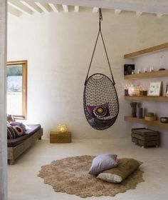 1000 images about we love hanging egg chairs on pinterest - Floating chair for bedroom ...