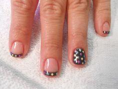 dot shellac nail art by misty