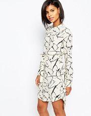 Vila Graphic Print Shirt Dress