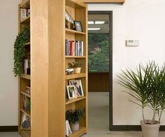 Hide a secret room in your home with this bookshelf that folds open to reveal a secret passageway - regardless of whether it leads to the Batcave or just the laundry room, these secret passageway bookshelves are a must have for any home.