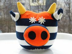 Sock Cow Toy Baby Home Decor Soft Doll New Baby Gift by RageRabbit