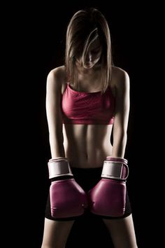 Boxing gloves as props - emphasize red a bit more, hard lighting from sides emphasize physique