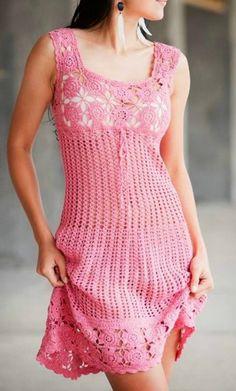 Uma sugestão para vestido com ponto fantasia bem simples e quadrados rendados....             CLIQUE AQUI GRAFICO SUGERIDO 1   CLIQUE AQUI ...