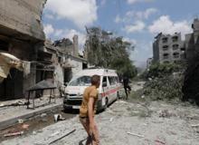 Ambulance in Gaza. Photo: Oxfam