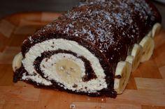 Diétna banánová roláda bez múky - obrázok 5 Cake, Fit, Desserts, Basket, Tailgate Desserts, Deserts, Shape, Food Cakes, Cakes