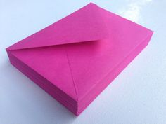 50 A7 5x7 Fuchsia Hot Pink Paper Source Invitation by SEEDInvites, $19.00