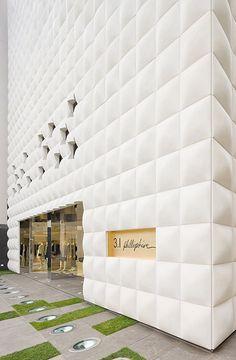 Retail store entrance facade