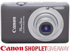 Our weekly giveaway for this week is sponsored by Canon! Click on the link to read more! Brought to you by Shoplet.com - Everything for your business. #Giveaway #Canon