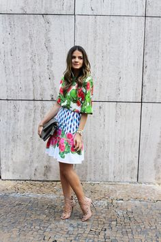 Thassia Naves. Very fashionable! How cool is that skirt?