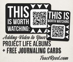 Adding Video To Project Life & Free Journaling Cards