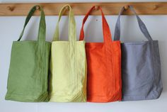 Baguette tote small vegetable - TEMBEA - - Less web store Sac Week End, Craft Bags, Waxed Canvas, Cloth Bags, Handmade Bags, Baguette, Bag Making, Shopping Bag, Shoulder Bag