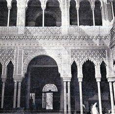 El  desaparecido Palacio de Anglada, en madrid, reproducía el Patio de los Leones de la Alhambra