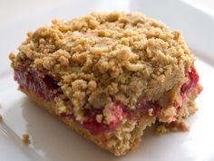 Strawberry Rhubarb Oatmeal Crumb Bars {vegan+gluten free}   Little Bird Bakery
