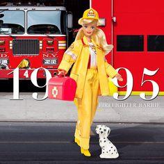 Barbie's trailblazing history includes fighting blazes herself. Firefighter…