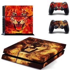 TigerFireLeoSun Skin - PS4 Protector