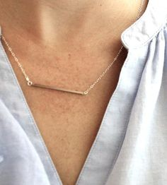 Silver Bar Necklace | Sometimes, like when you're being chased by a bear, you'd rath... | Necklaces