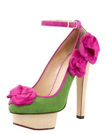 Charlotte Olympia Flora Ankle-Strap Pump