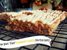 Feeding My Addiction: Raw No Bake Fake Carrot Cake {Protein Bars}