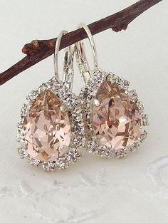 Blush earringsBlush drop earringBlush pink di EldorTinaJewelry